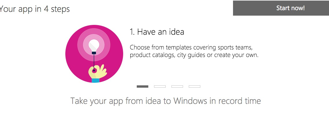 Microsoft lets you build apps for Windows 10 in less than 10 minutes