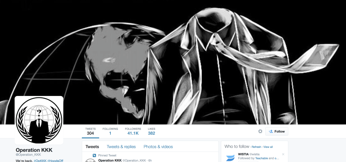 Anonymous' Operation KKK outs hate groups and alleged members via Twitter