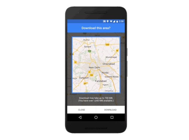 Google Maps offline mode comes to India