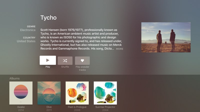 Search for artists by genre, view music videos and set up playlists