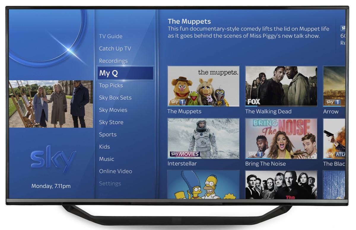 Sky Q - My Q - In TV