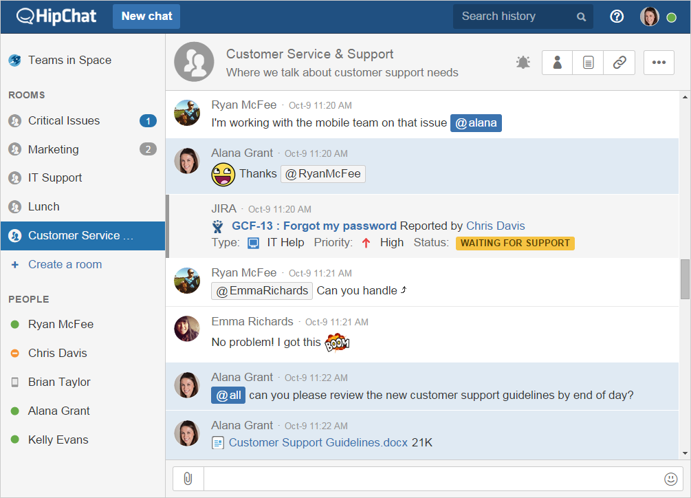 HipChat's new Connect API lets teams use apps from a chat window