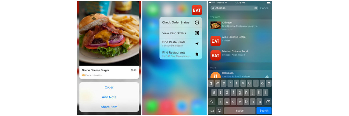 Eat24 for iOS now supports 3D Touch so you won't be so 'hangry'