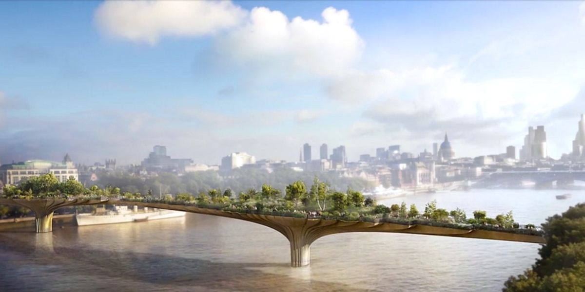 London's Garden Bridge will ban drones and monitor visitors through Wi-Fi and CCTV