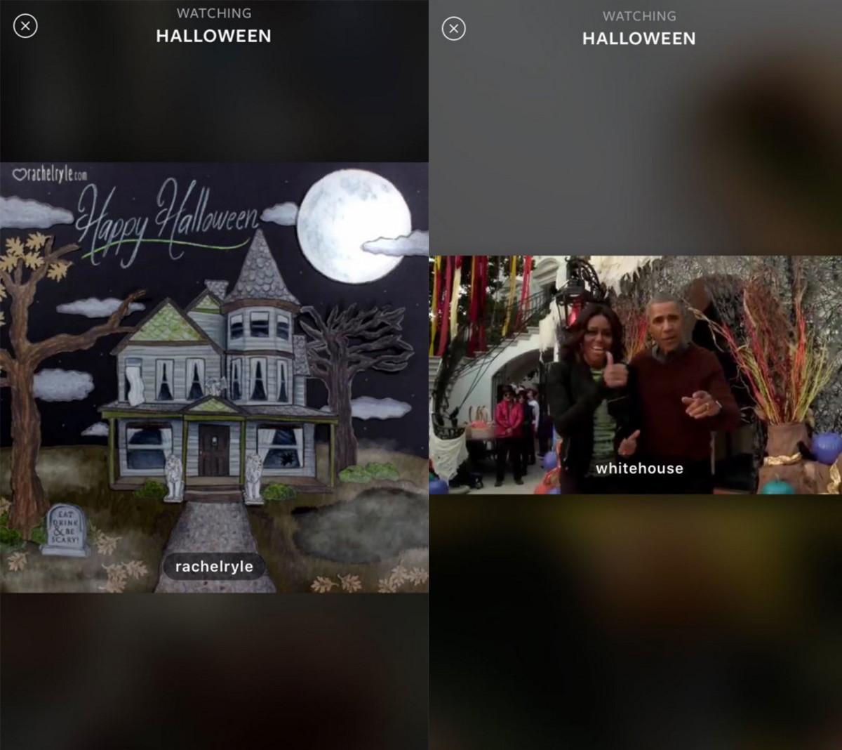 Instagram's Halloween Live Story
