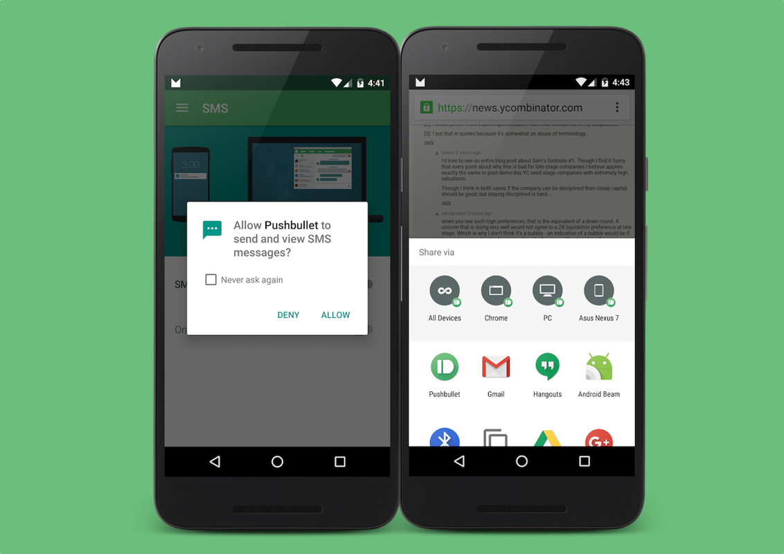 Pushbullet's Android 6.0 Marshmallow update brings on-demand app permissions