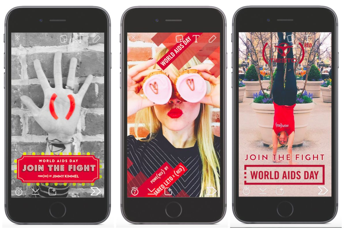 (RED) taps Snapchat, Instagram and YouTube to help raise funds for World AIDS Day