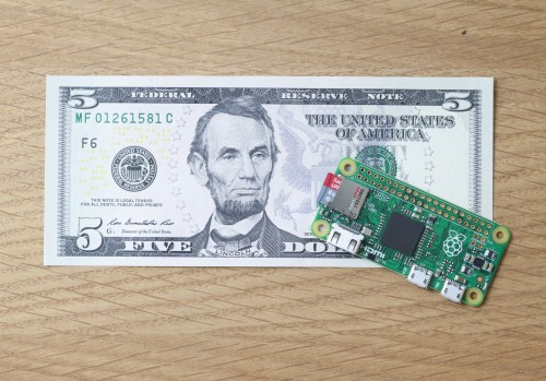 The Pi Zero is half the size of last year's Model A+