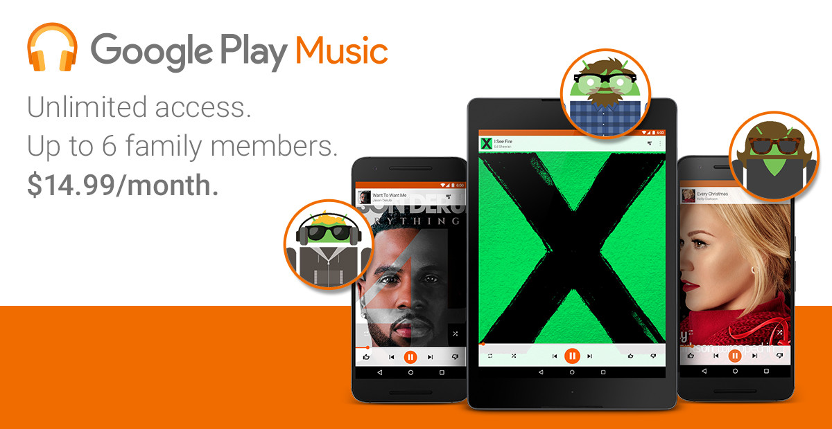 Google finally rolls out $14.99 family plan for Play Music and ...