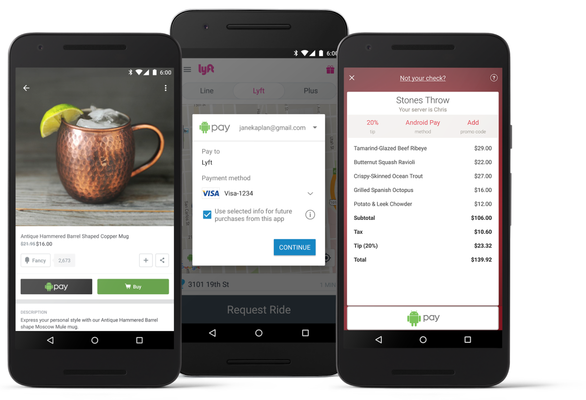 Android Pay can now replace your credit card for in-app payments