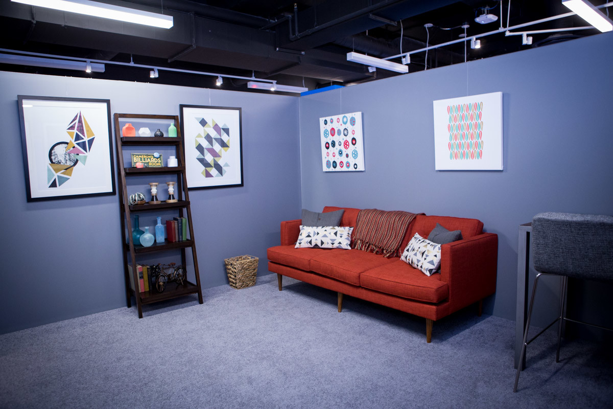 The various rooms imitate real life places where you might use the headset.