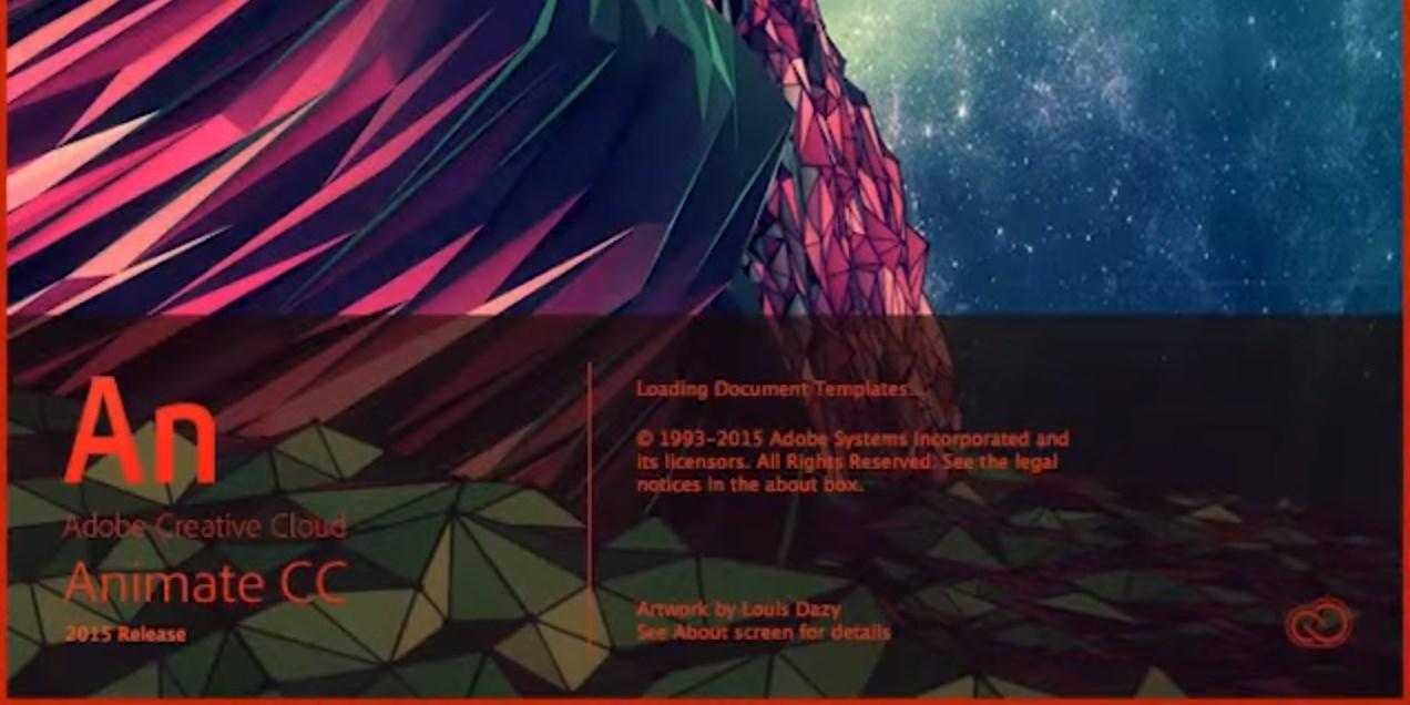 Adobe Animate CC opening screen
