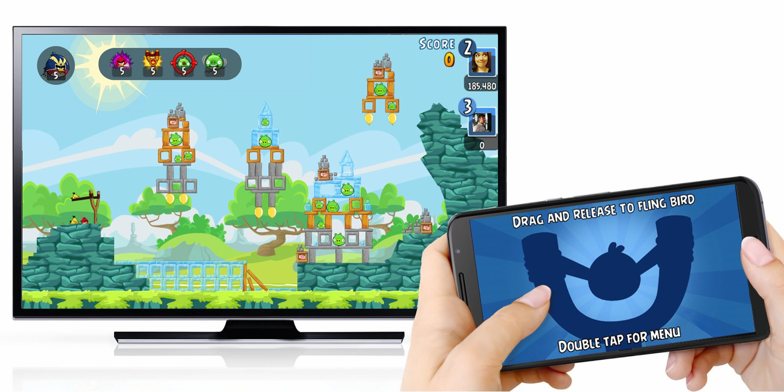 Angry Birds comes to the Chromecast in time for the holidays