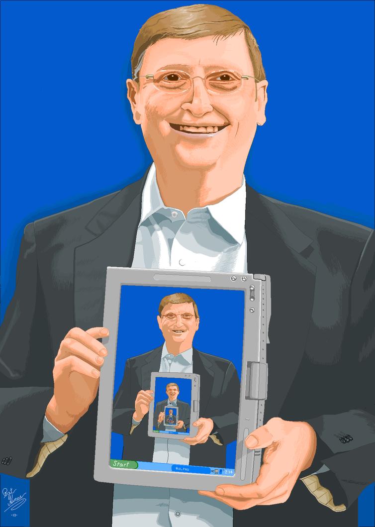 Slightly creepy, meta Bill Gates - in Paint