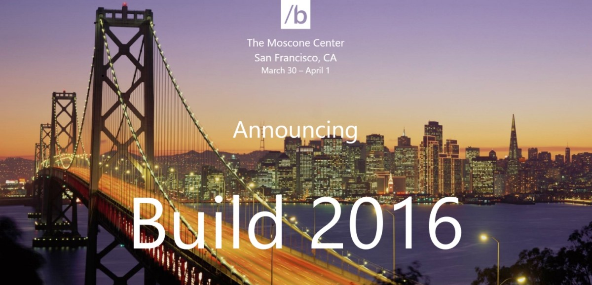 Microsoft's next Build conference is slated for March 30