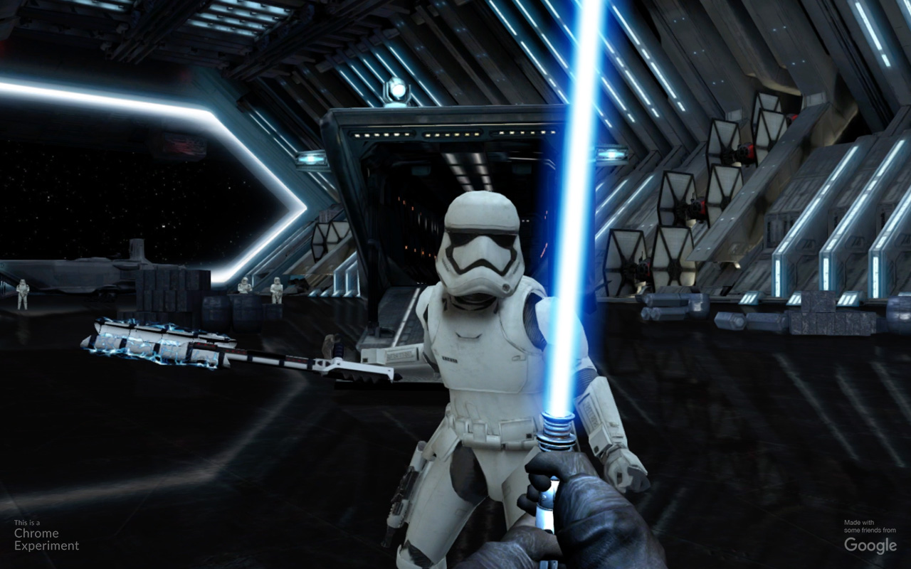 Google's new Chrome experiment turns your phone into a lightsaber so you can fight Storm Troopers