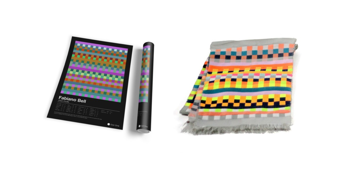 Dot One will print your DNA as a scarf or poster