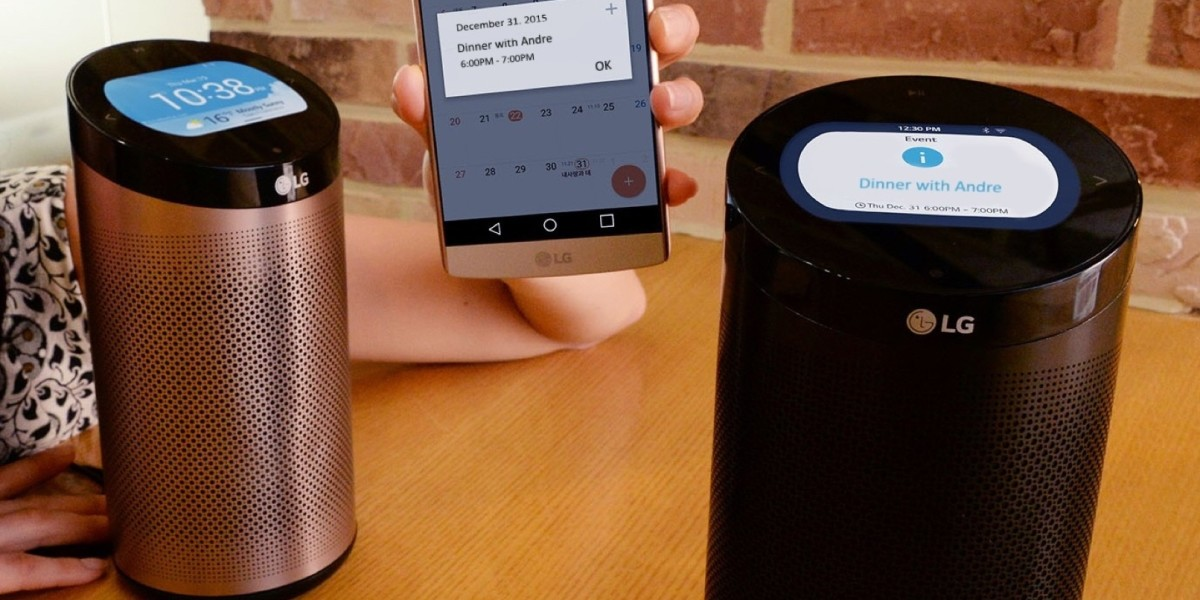 This isn't the Amazon Echo, but LG's new smart home hub looks… familiar
