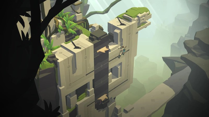 Lara Croft GO offers challenging puzzles and beautiful visuals
