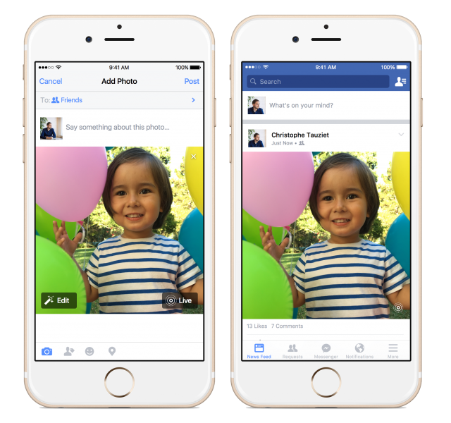 Facebook now supports Live Photos for iOS