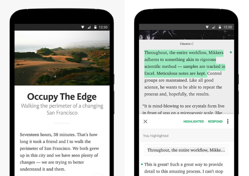 Medium's Android app lets you read, comment on and publish posts on the upcoming blogger network