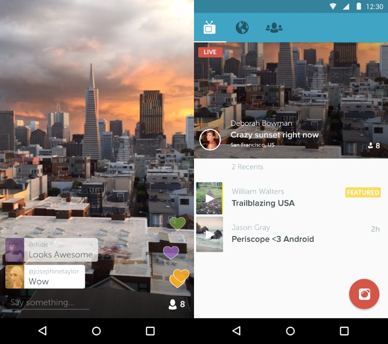 Periscope lets you broadcast live video to your social networks instantly