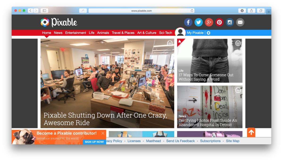 Pixable homepage