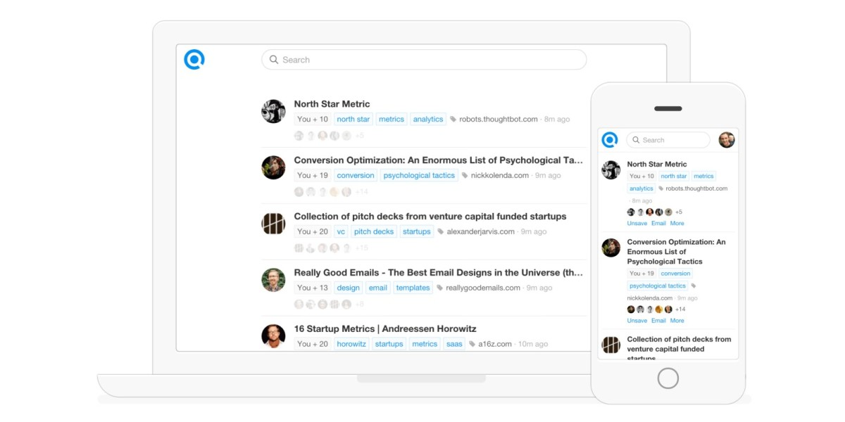 Refind digs out past treasures by adding bookmarked articles to your search results