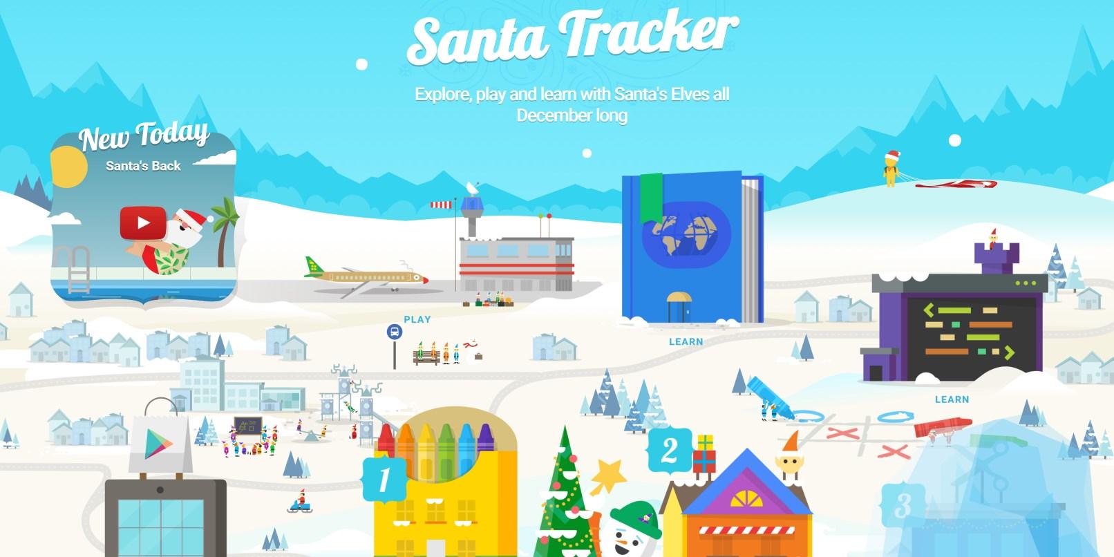 Google brings fun new activities to its Santa Tracker