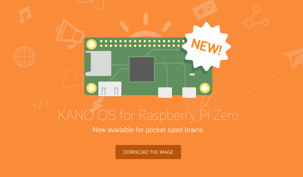 Kano OS empowers kids to create the future on $5 Pi Zero
