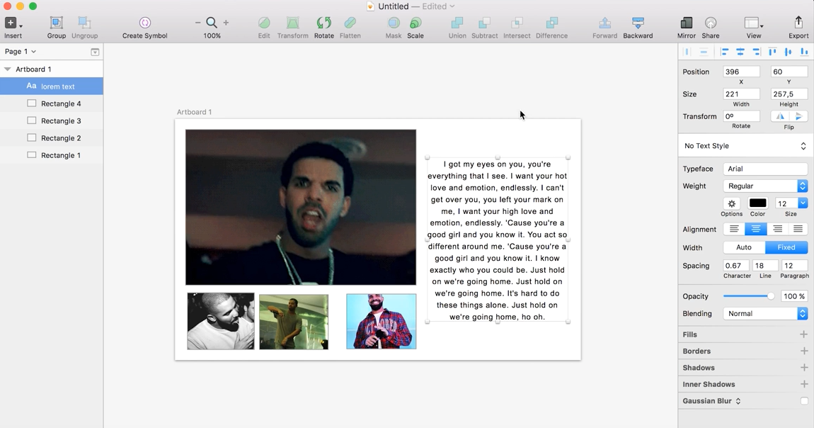 Drake will now help make your app designs bling with this Sketch plugin