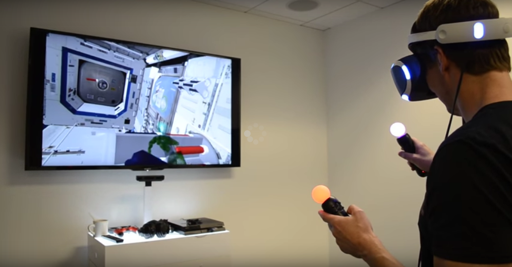 NASA and PlayStation team up for a VR space training project