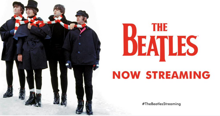 The Beatles are coming to a streaming service near you on Christmas Eve