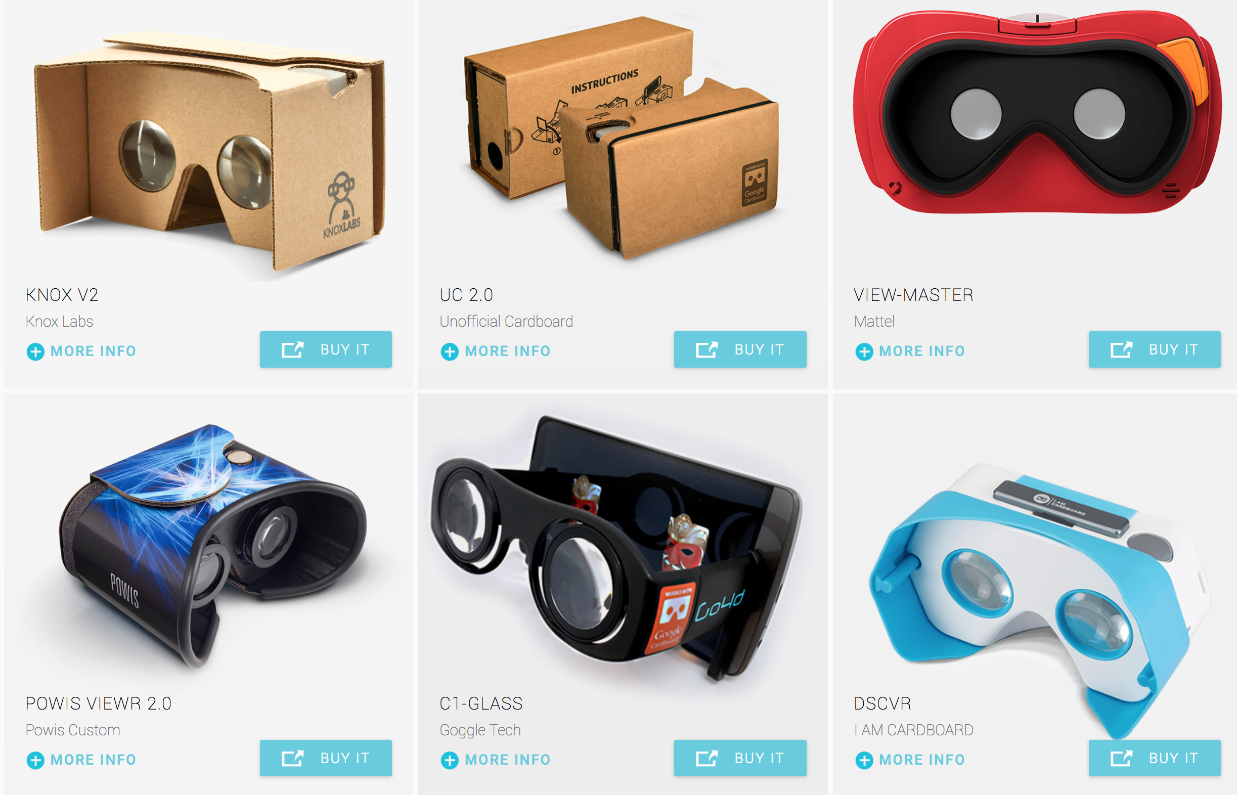 Google Cardboard comes in a variety of options