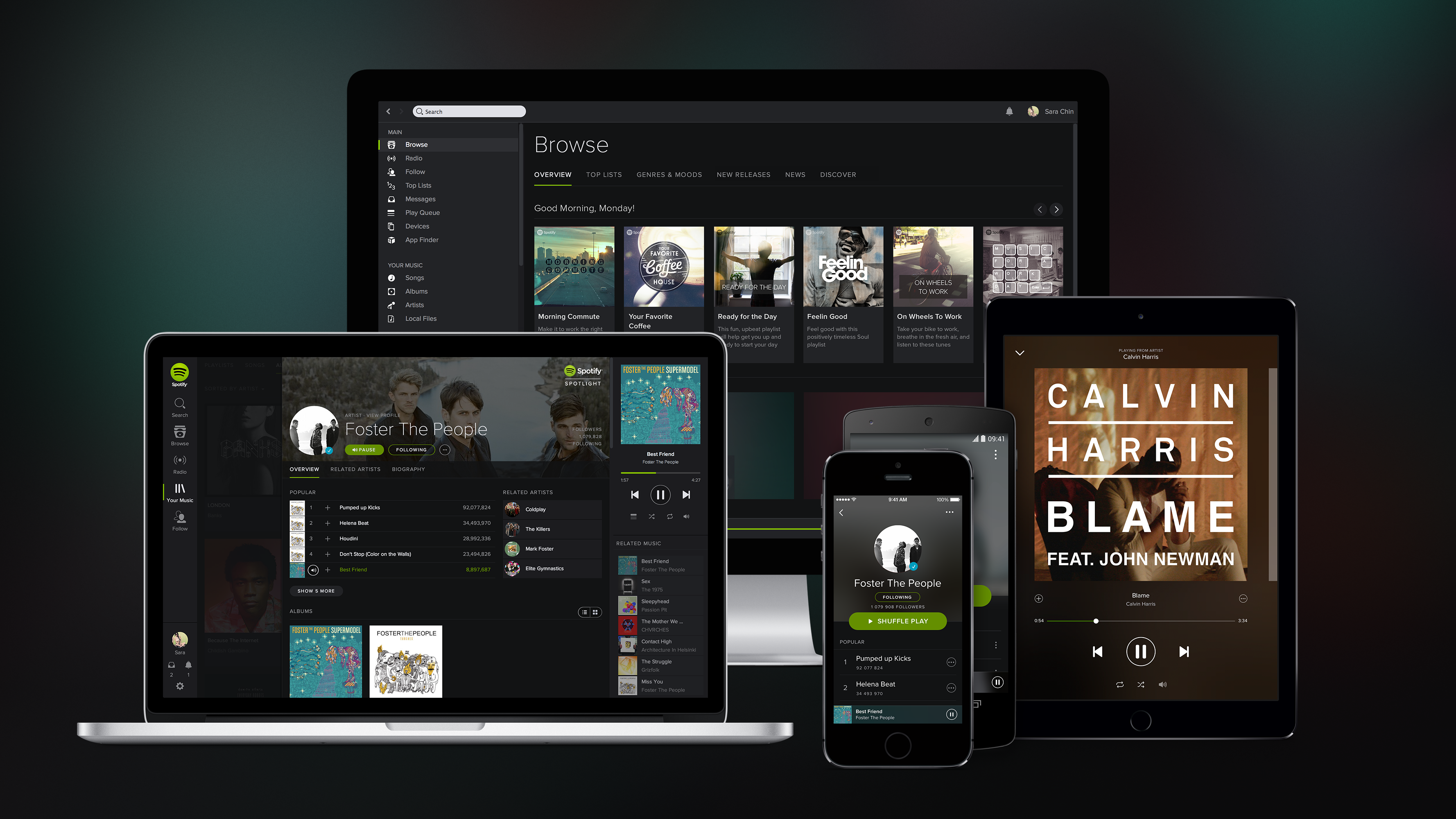 Spotify trumps Pandora as the world's favorite music service, but Apple is nowhere to be seen