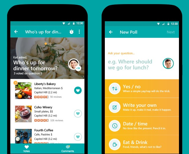 Tossup helps you plan outings with friends and gets everyone on the same page