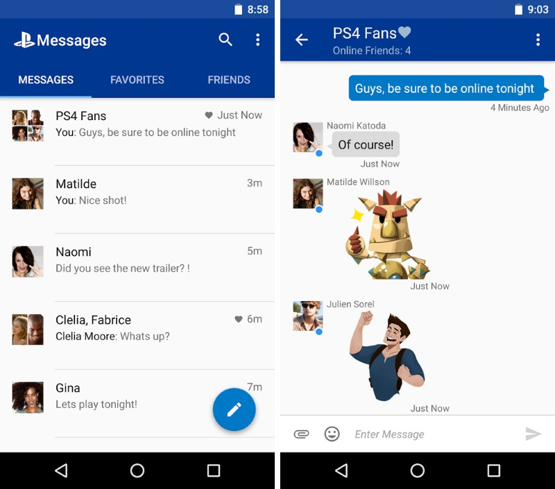 PlayStation Network gets a new mobile messaging app
