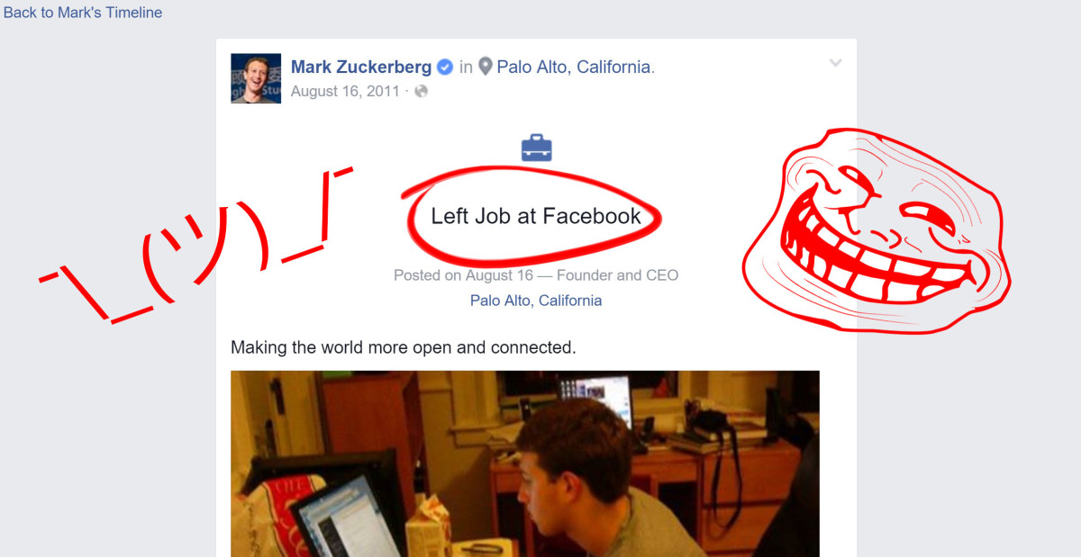 This URL bug tricks Facebook into thinking Mark Zuckerberg quit his job [Update: Fixed]