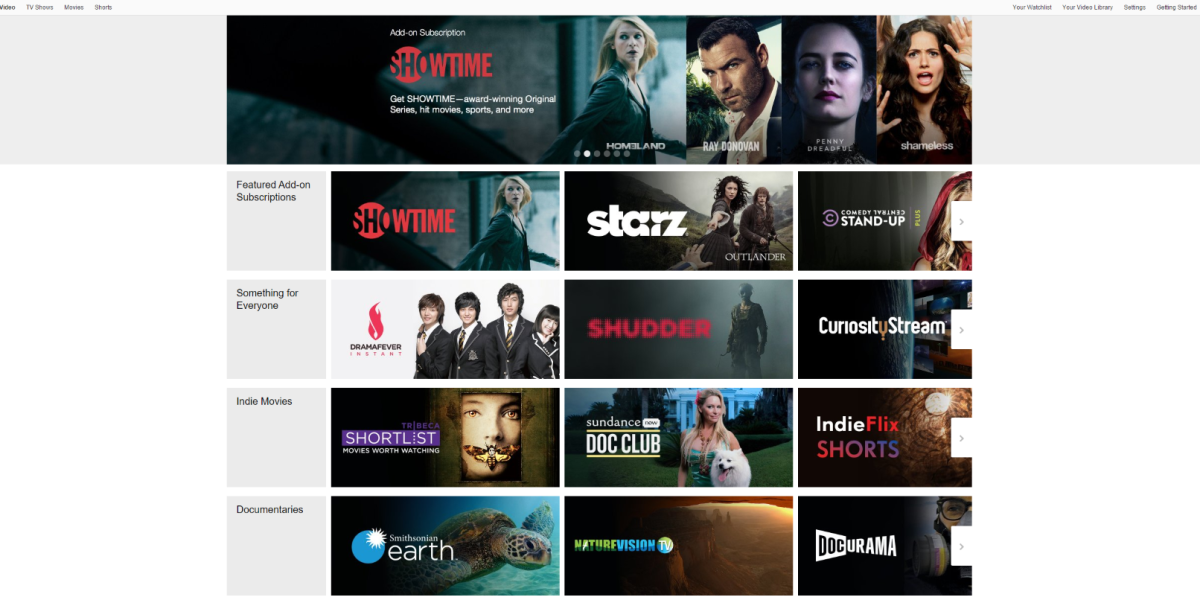 Amazon now lets Prime members pay for premium network subscriptions like Showtime and Starz