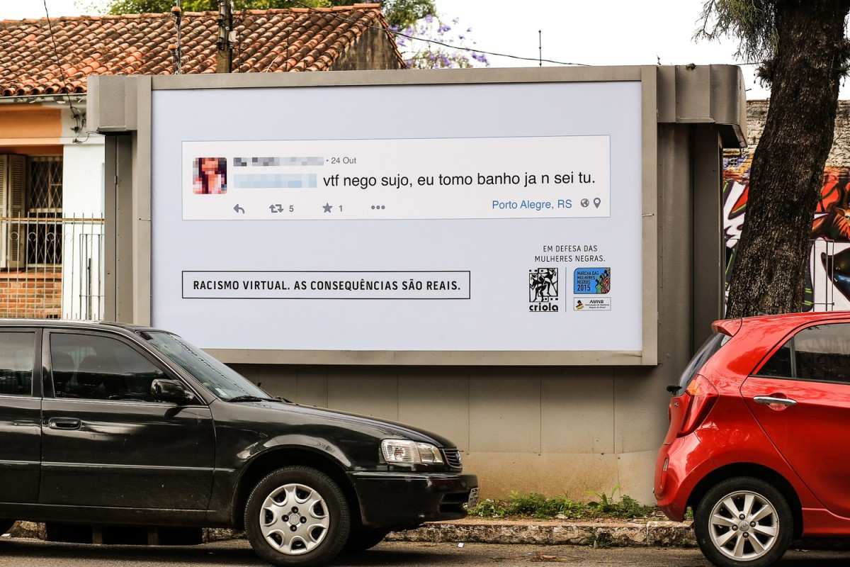 Brazilian group turns racist online comments into billboards in commenters' neighborhoods