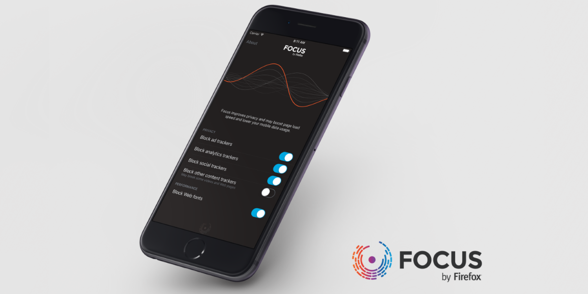 Focus by Firefox is a content blocker for iOS 9 that doesn't work with Firefox