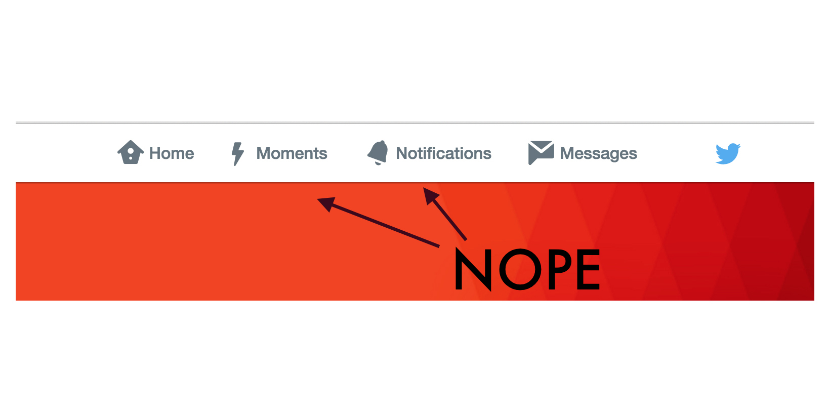 Twitter's new tactic to showcase Moments isn't interaction design, it's interference