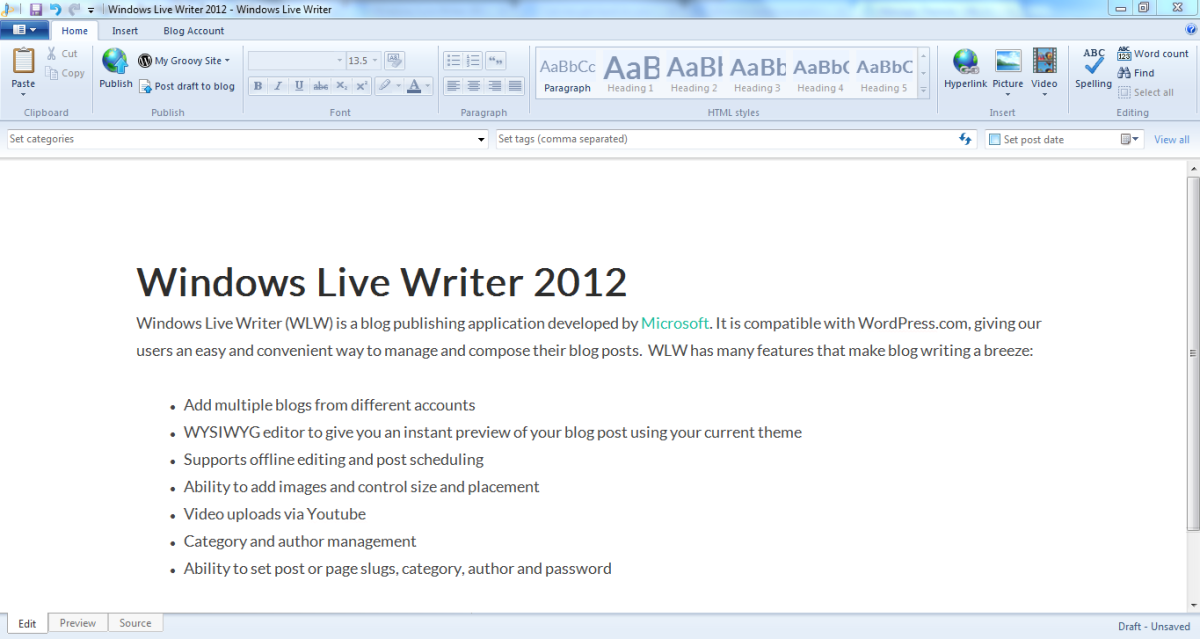 A team of Microsoft developers revived Windows Live Writer, then open sourced it