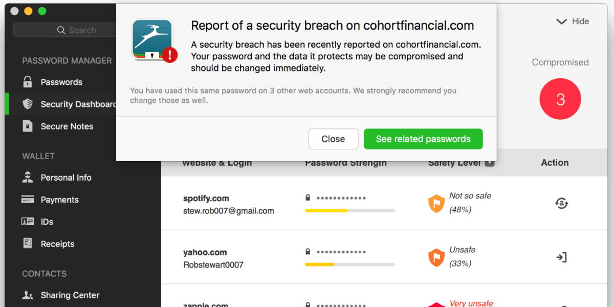 Dashlane's got a new service for businesses that alerts users if they've been hacked