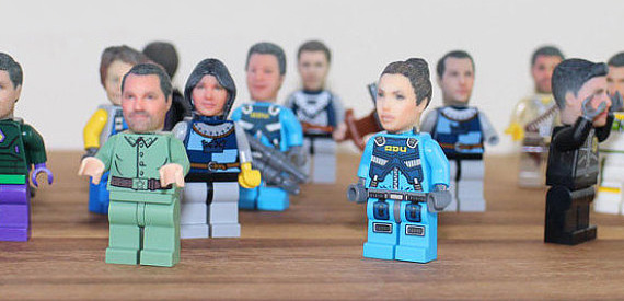 You can now stick your 3D-printed head on a Lego minifigure