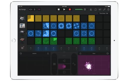 GarageBand for iOS - Live Loops - iPad