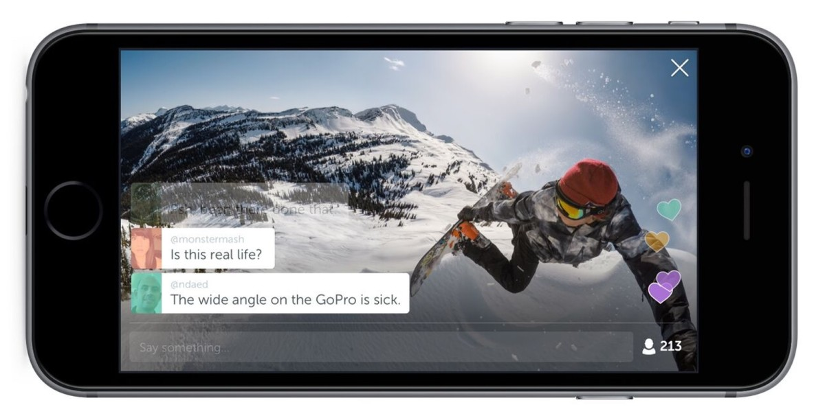 Periscope for iPhone now lets you broadcast live using a GoPro