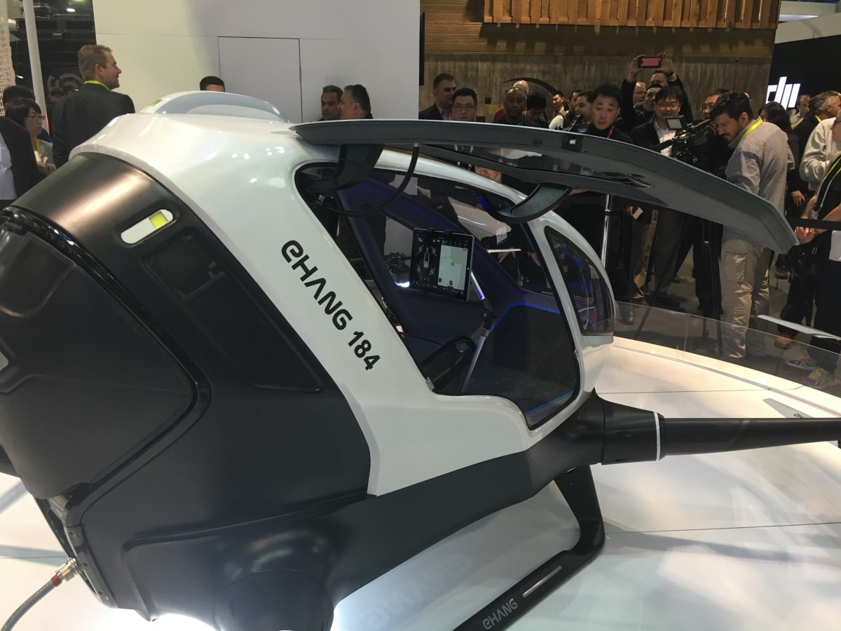 Forget driving, EHang's drone shuttles you from place to place autonomously