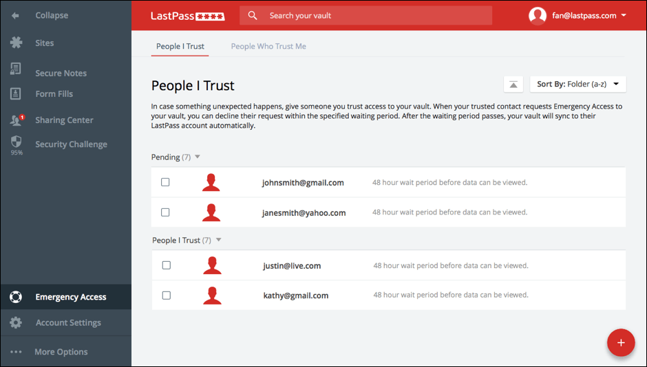 LastPass adds emergency access for loved ones to get into your Vault