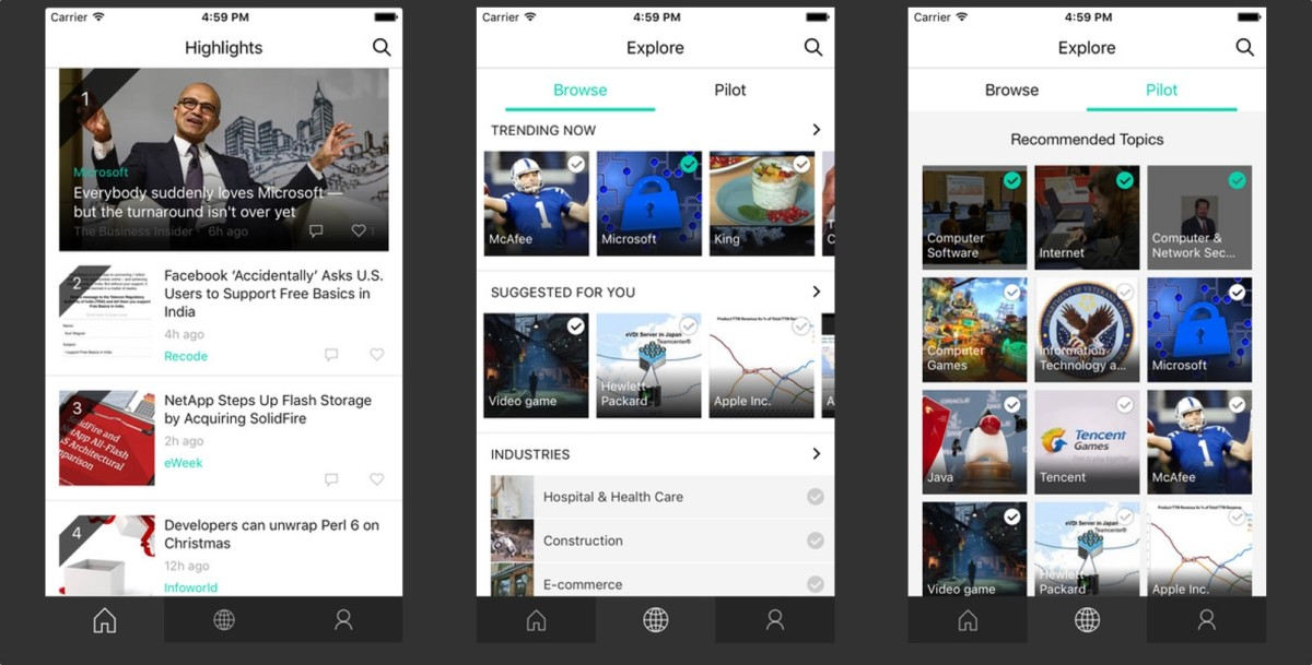 Microsoft's 'News Pro' app for iOS leverages Bing news and social media to create your ...